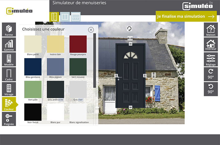 stunning simulateur couleur facade maison with simulateur. Black Bedroom Furniture Sets. Home Design Ideas